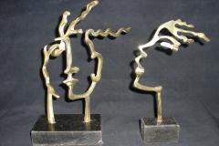 Caras bronze polido 9x14x27 alt 1990 e Snob nose bronze polido 4x14x24 alt 1985