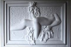 Mulher com laço faberglass 123x93x15 alt. 1991